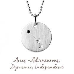 Aries Star Map in Silver