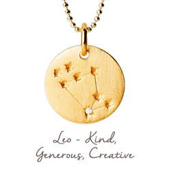 Leo Star Map in Gold