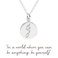 J Mantra Initial Necklace