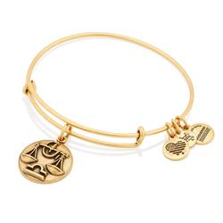 Libra Disc Bangle in Rafaelian Gold Finish
