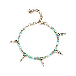 Spike Bracelet in Turquoise and Gold