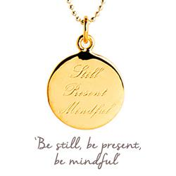 Still Present Mindful Necklace in Gold