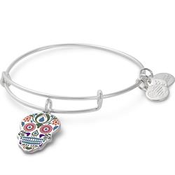 Colour Infusion Calavera Bangle in Shiny Silver