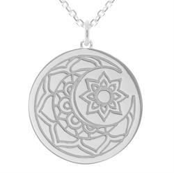 Moon and Sun myMantra Necklace in Sterling Silver