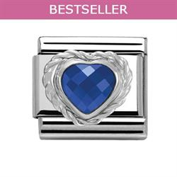 Dark Blue Heart CZ