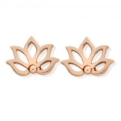 Rose Gold Lotus Studs