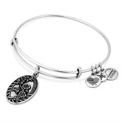 Because I Love You Granddaughter Bangle in Rafaelian Silver