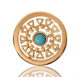 Nikki Lissoni Small Turquoise Inner Beauty Coin