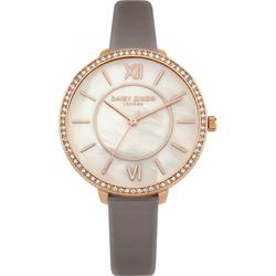 Bella Rose Gold and Mother of Pearl Grey Watch