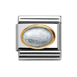 Buy Nomination Oval Silver Leaf