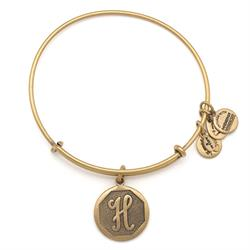 H Initial Bangle in Rafaelian Gold