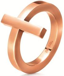Folli Follie Carma Rose Gold Ring Size 54
