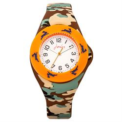 Camo and Orange Interchangeable Kids Watch
