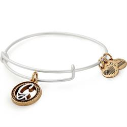G Initial Two-Tone Bangle