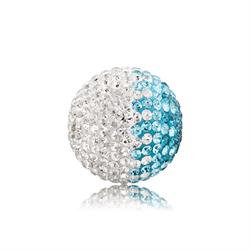 Turquoise and White Crystal Sound Ball Large