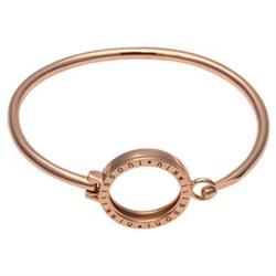 Rose Gold Bangle with Small Carrier 17cm