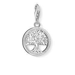 Tree of Life CZ Silver Charm