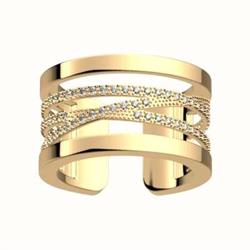 Gold CZ Liens Ring (58)