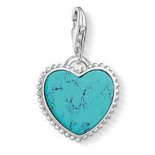 Turquoise Heart Charm by Thomas Sabo