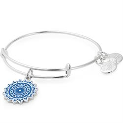 Alex and Ani Throat Chakra Bangle in Shiny Silver