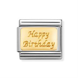 'Happy Birthday' Engraved Plate