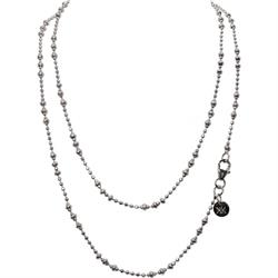 Silver 80cm Graduated Beads Chain