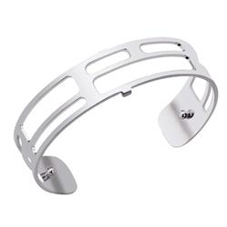 Slim Silver Labyrinth Cuff Bangle