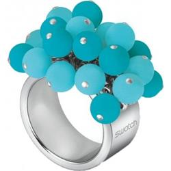 Turquoise Ball Love Explosion Ball Ring, size 8