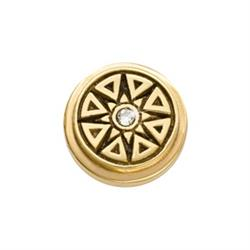 Yellow Gold New Star Ring Coin