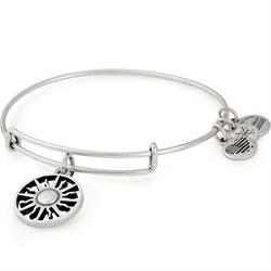 Rising Sun Bangle in Rafaelian Silver