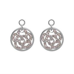 Sparkling Flower Silver Coin Drops
