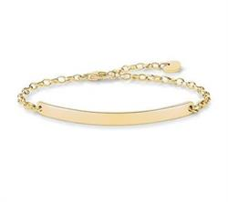 Love Bridge Classic Bracelet Yellow-Gold Plated