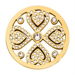 Gold Swarovski Vintage Love 33mm Coin