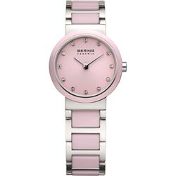 Bering Small Pink Ceramic Dial with CZ