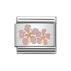 Rose Gold Peach Blossom Charm by Nomination