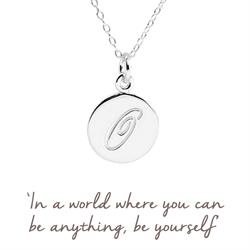O Mantra Initial Necklace