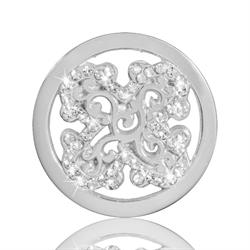 Silver Sparkling Curl Fantasy Coin 23mm
