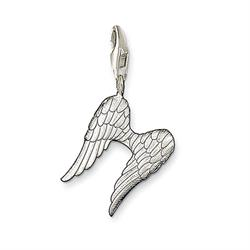 Silver Angel Wings Charm