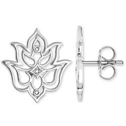 Diamond Lotus Studs