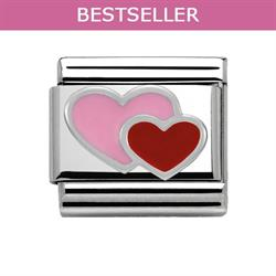 Buy Nomination Pink and Red Hearts Charm