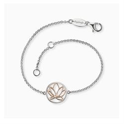 Rose Gold Lotus Bracelet