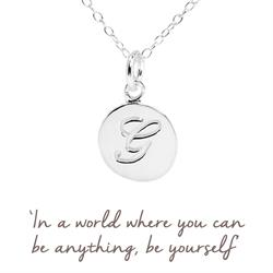 G Mantra Initial Necklace
