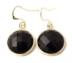 Mini Earrings in Black Agate