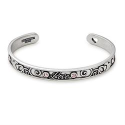 Because I Love You Cuff in Rafaelian Silver