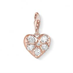 Rose Gold Multi CZ Heart Charm