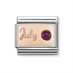 Nomination Rose Gold July Ruby Charm