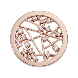 Rose Gold Mixed Crystal Coin 23mm