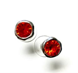 Orange CZ Earrings
