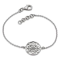 Filigree Disc Bracelet in Silver