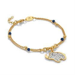 Nomination Jasmine Yellow Gold and Silver Elephant Bracelet
